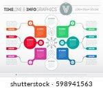 vector infographic of... | Shutterstock .eps vector #598941563