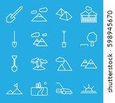 landscape icons set. set of 16... | Shutterstock .eps vector #598945670