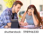 student helping to learn a... | Shutterstock . vector #598946330