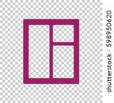 window icon vector. | Shutterstock .eps vector #598950620
