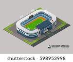 isometric soccer stadium | Shutterstock .eps vector #598953998