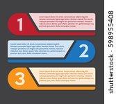 infographic design  three steps.... | Shutterstock .eps vector #598955408