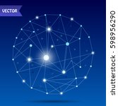 world map point  line ... | Shutterstock .eps vector #598956290