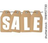 sale inscription design... | Shutterstock .eps vector #598957730