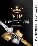 vip banner with sparkling gold... | Shutterstock .eps vector #598961264