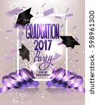 graduation party invitation... | Shutterstock .eps vector #598961300