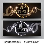 vip invitation banners with... | Shutterstock .eps vector #598961324