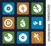 cd icons set. set of 9 cd...   Shutterstock .eps vector #598965350