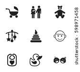set of 9 editable infant icons. ...   Shutterstock .eps vector #598971458
