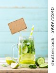 infused detox water with... | Shutterstock . vector #598972340