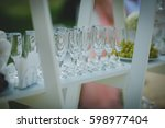 glasses and beautiful scenery... | Shutterstock . vector #598977404