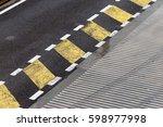 racing track pit lane asphalt...   Shutterstock . vector #598977998