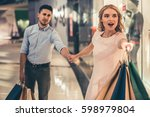beautiful couple with shopping...
