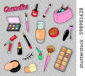 cosmetics beauty fashion makeup ... | Shutterstock .eps vector #598981628
