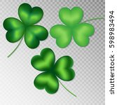collection of green shamrocks... | Shutterstock .eps vector #598983494