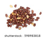 salted peanut isolated on white ... | Shutterstock . vector #598983818