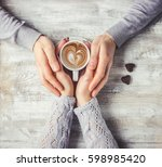 cup drink for breakfast in the... | Shutterstock . vector #598985420