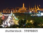 bangkok night view of grand...   Shutterstock . vector #59898805