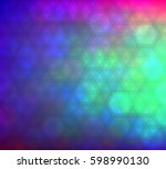 colorful gradient hexagonal... | Shutterstock .eps vector #598990130
