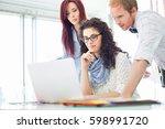 creative business colleagues... | Shutterstock . vector #598991720