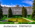 madrid royal palace and... | Shutterstock . vector #598996910