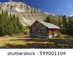 halfway hut  vintage landmark... | Shutterstock . vector #599001104