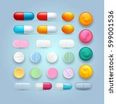 set of different tablets ... | Shutterstock .eps vector #599001536