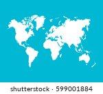 world map. white vector map...   Shutterstock .eps vector #599001884