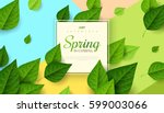 spring background with flying... | Shutterstock .eps vector #599003066