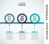 abstract infographics number... | Shutterstock .eps vector #599006306