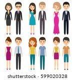 characters flat people in... | Shutterstock .eps vector #599020328