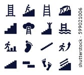 step icons set. set of 16 step... | Shutterstock .eps vector #599021006
