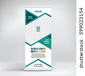 banner roll up design  business ... | Shutterstock .eps vector #599023154