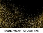 gold glitter texture isolated... | Shutterstock .eps vector #599031428