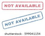 not available text textile seal ... | Shutterstock .eps vector #599041154