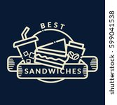 sandwiches badge  label  logo ... | Shutterstock .eps vector #599041538