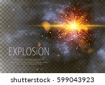 goold glitter particles...   Shutterstock .eps vector #599043923
