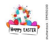 happy easter. vector   Shutterstock .eps vector #599050100