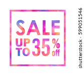 sale banner with a bright... | Shutterstock . vector #599051546