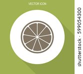 orange or lemon slice vector