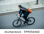 high angle view of young man... | Shutterstock . vector #599056460