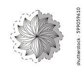dahlia flower decoration... | Shutterstock .eps vector #599059610