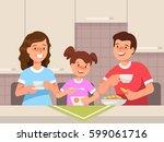 vector flat illustration of... | Shutterstock .eps vector #599061716