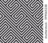 vector seamless pattern.... | Shutterstock .eps vector #599065238