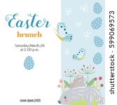 easter background or banner.... | Shutterstock .eps vector #599069573