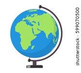 earth globe. vector illustration | Shutterstock .eps vector #599070500