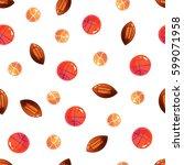 ball seamless pattern. vector... | Shutterstock .eps vector #599071958