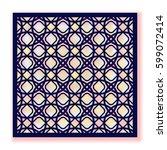 vector template for laser... | Shutterstock .eps vector #599072414
