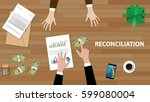 reconciliation white text... | Shutterstock .eps vector #599080004