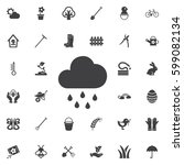 cloud with rain icon. set of...   Shutterstock .eps vector #599082134